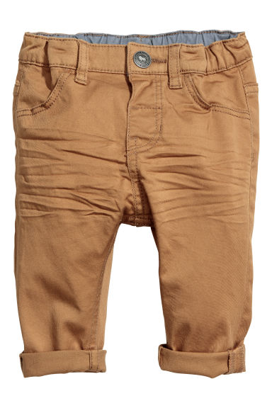 Cotton twill trousers - Light brown - Kids | H&M CN