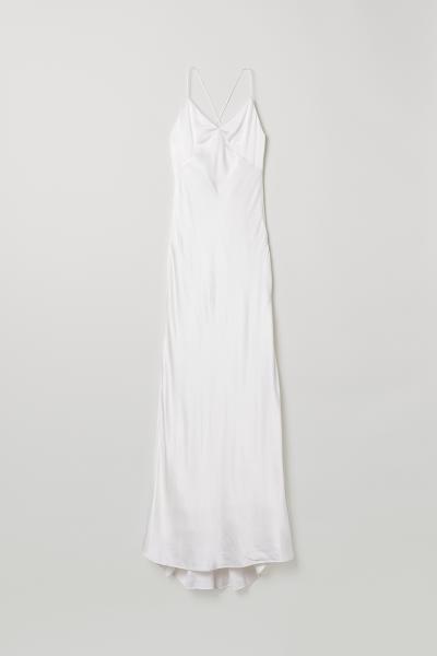 H&M - Vestido largo de satén - 5