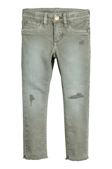 Twill trousers Skinny Fit - Light khaki green - Kids | H&M CN