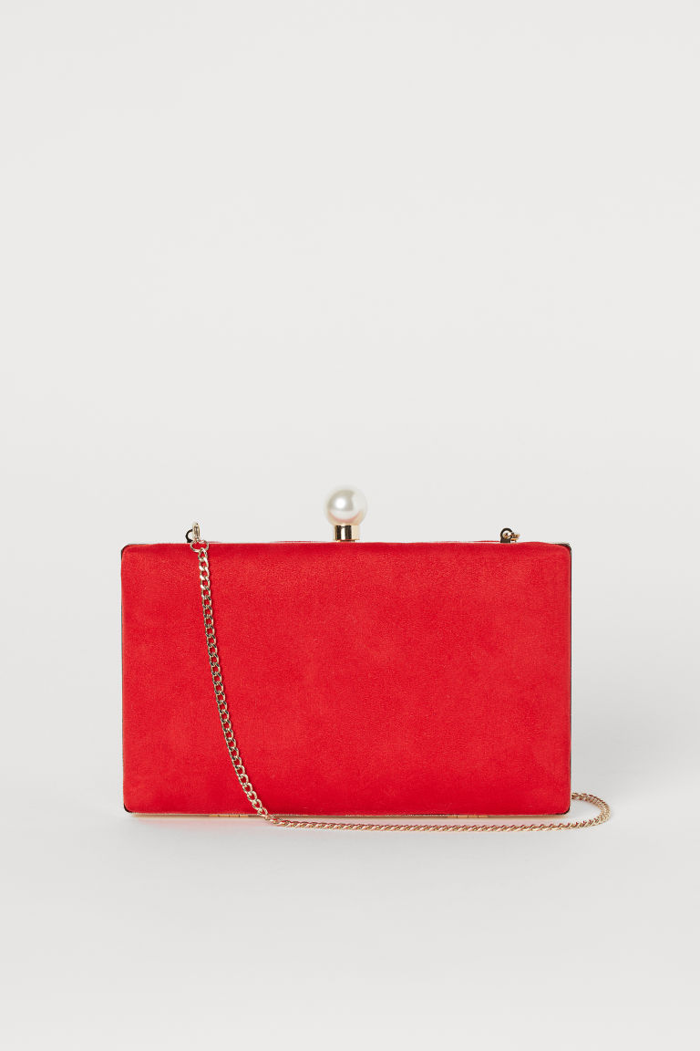 Clutch Bag with Shoulder Strap - Bright red - Ladies | H&M CA