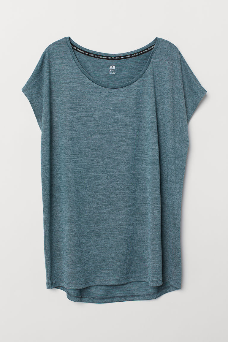 Sports top - Dark turquoise marl - Ladies | H&M GB