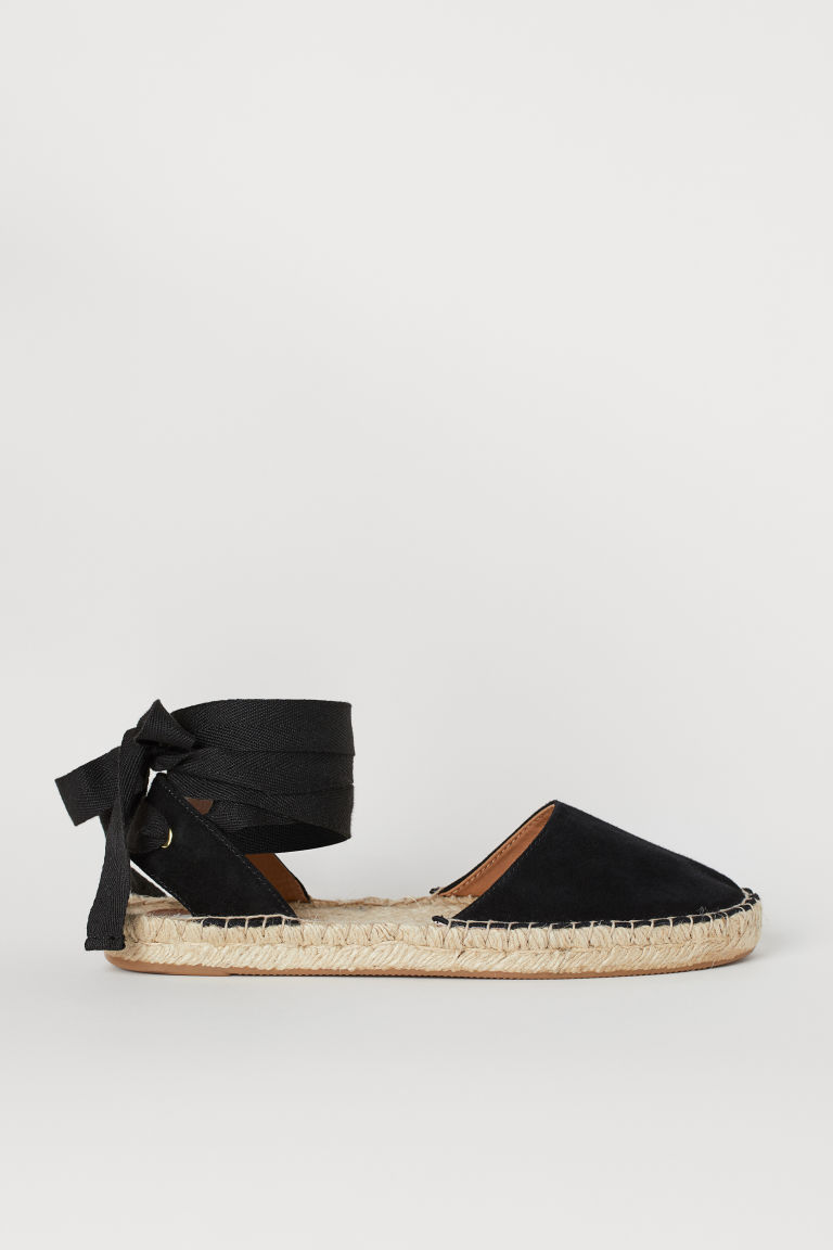Suede Espadrilles - Black - Ladies | H&M US