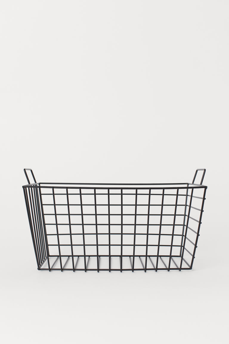 Large metal wire basket - Black - Home All | H&M GB