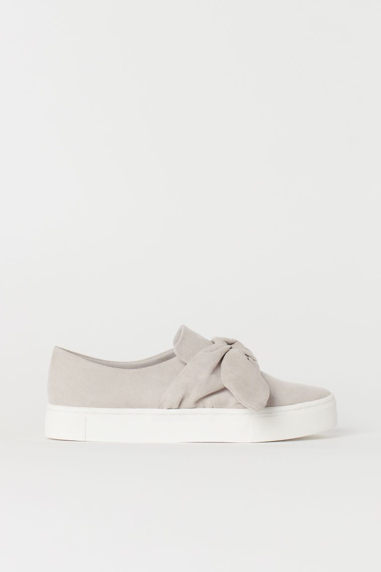 Slip-on trainers - Light mole/Imitation suede - Ladies | H&M