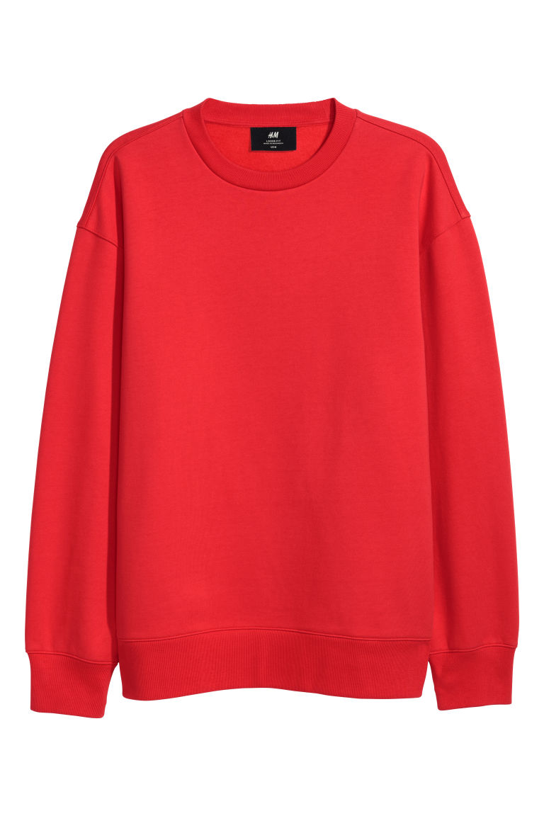 Oversized sweatshirt - Bright red - Men | H&M GB