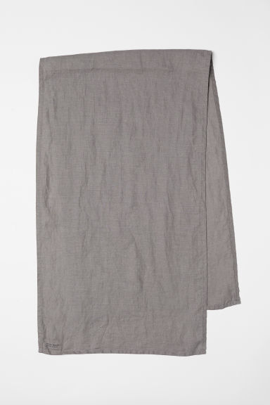 Washed linen table runner - Grey - Home All | H&M CN