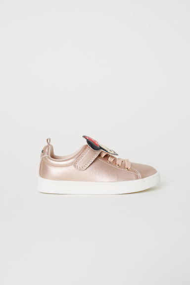 Appliquéd trainers - Bronze-coloured/Minnie Mouse - Kids | H&M CN