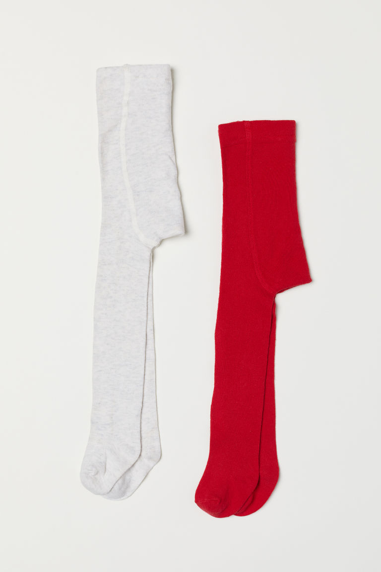 2-pack tights - Red - Kids | H&M