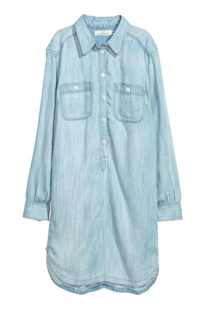 Dlouhá džínová košile - Světlý denim blue - ŽENY  aa3987b415