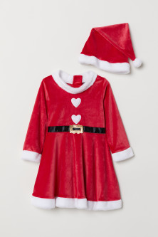 Santa dress and hat