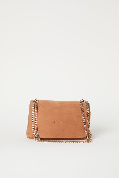 Suede shoulder bag - Camel - Ladies | H&M CN
