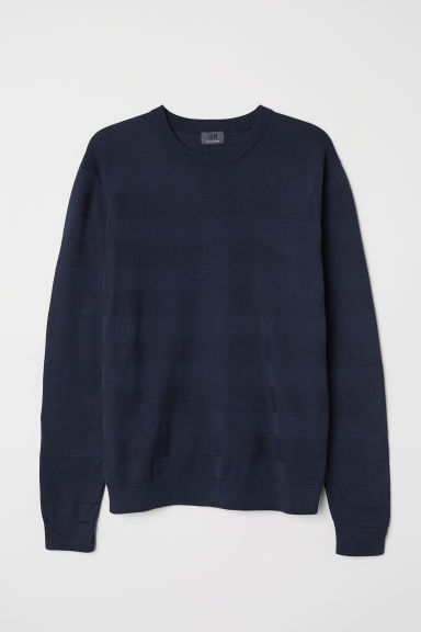 Pullover in cotone premium - Blu scuro - UOMO | H&M IT