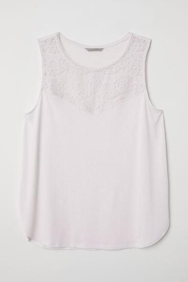 H&M+ Sleeveless jersey top - Powder pink -  | H&M CN