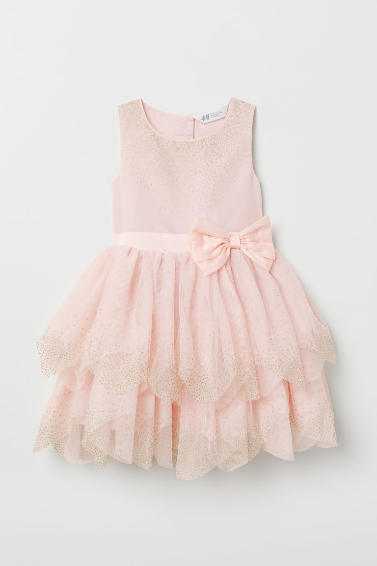 Tulle dress - Light pink - Kids | H&M GB