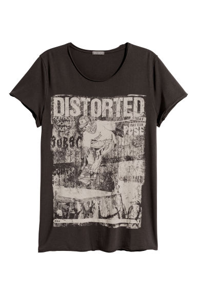 Printed T-shirt - Black/Skateboard - Men | H&M