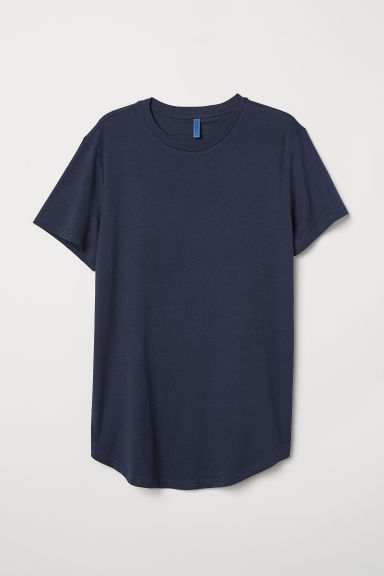Long T-shirt - Dark blue - Men | H&M
