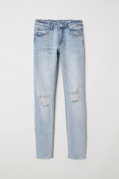 Skinny Low Jeans - Light denim blue/Trashed -  | H&M