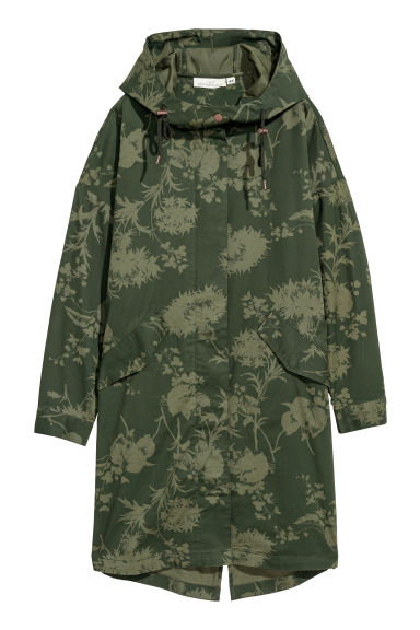Parka in cotone - Verde scuro/fantasia -  | H&M IT