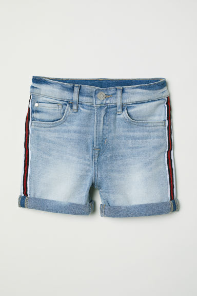 Shorts in denim Slim Fit - Blu denim chiaro - BAMBINO | H&M IT