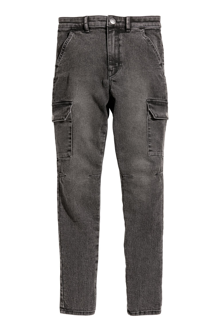Cargo trousers - Black washed out - Kids | H&M CN
