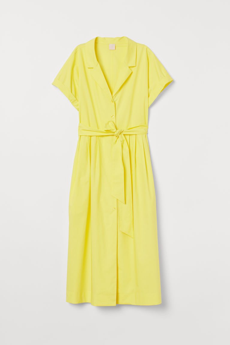 Shirt dress - Light yellow - Ladies | H&M GB
