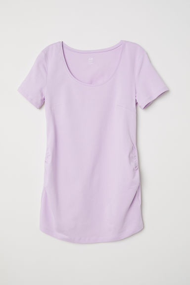 MAMA Cotton jersey top - Light purple - Ladies | H&M