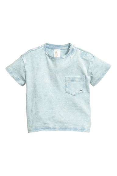 T-shirt efeito lavado - Azul claro washed out -  | H&M PT