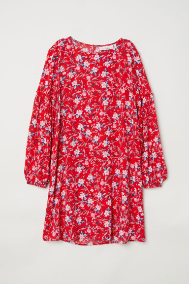 Dress - Red/Floral -  | H&M CN