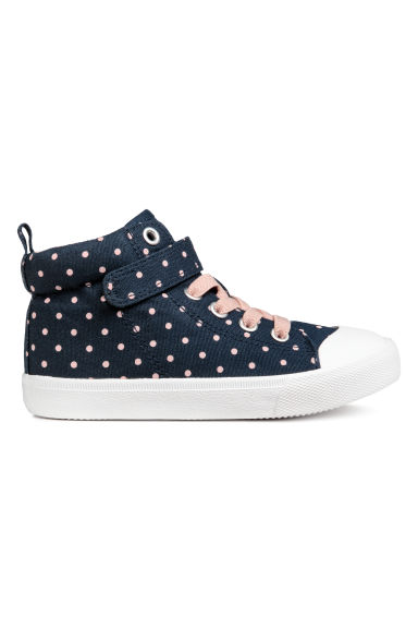 Hi-top trainers - Dark blue/Spotted -  | H&M