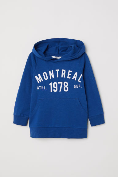 Hooded top - Dark blue/Montreal - Kids | H&M