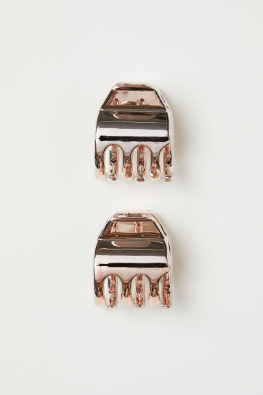 2-pack hair claws - Rose gold-coloured - Ladies | H&M