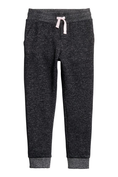Joggers - Black/Silver-coloured - Kids | H&M