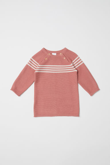 Fine-knit dress - Powder pink - Kids | H&M