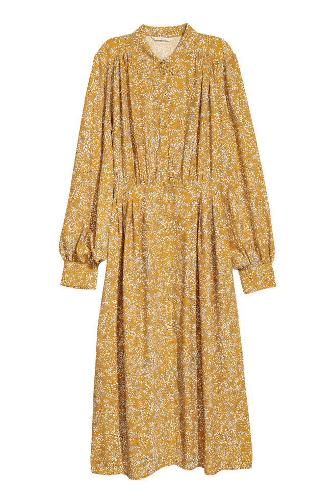 0dfb00816265a Dress - Yellow/Patterned - Ladies | H&M ...
