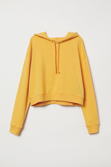 Short hooded top - Yellow - Ladies | H&M CN
