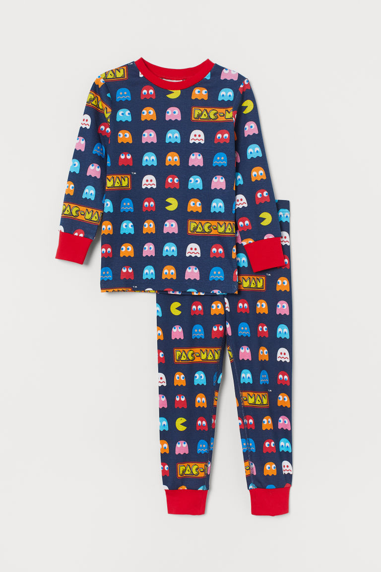 Printed pyjamas - Dark blue/PAC-MAN - Kids | H&M GB