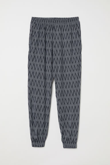Harem trousers - Dark blue/White patterned - Ladies | H&M CN