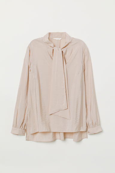 Tie-front Blouse - Powder pink - Ladies | H&M US