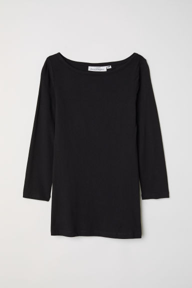 Tricot top - Zwart -  | H&M BE