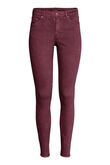 Skinny Regular Jeans - Burgundy - Ladies | H&M GB
