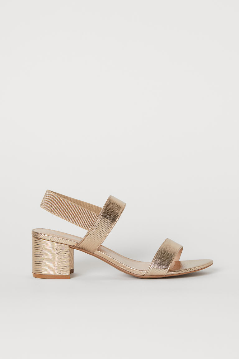 Sandals - Gold-colored - Ladies | H&M CA