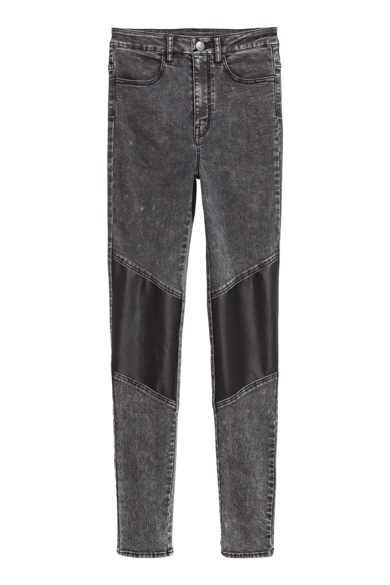 Stretch trousers - Black/Washed out - Ladies | H&M CN