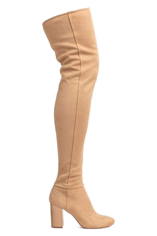 02beb8fff23f Thigh-high Boots - Camel - Ladies | H&M ...