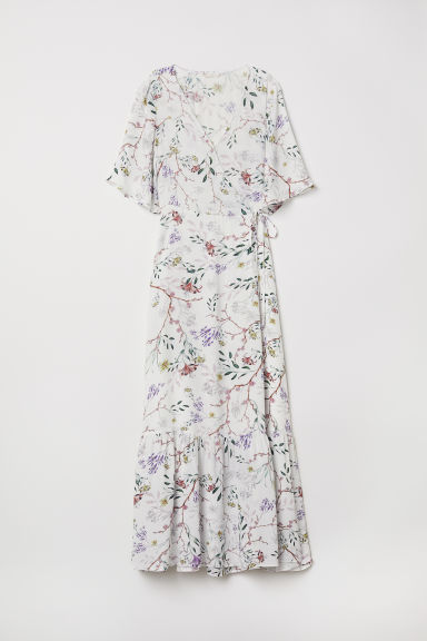 Patterned wrap dress - White/Floral - Ladies | H&M