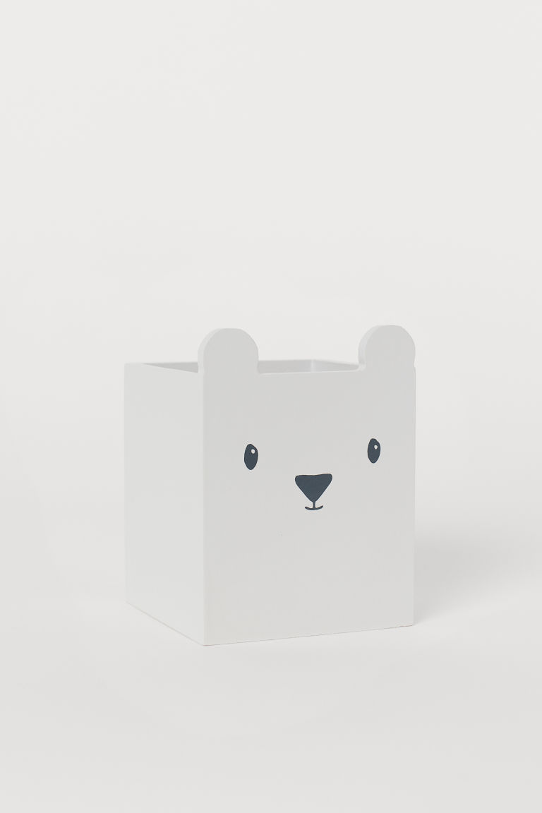 Plywood pen holder - Light grey - Home All | H&M CN