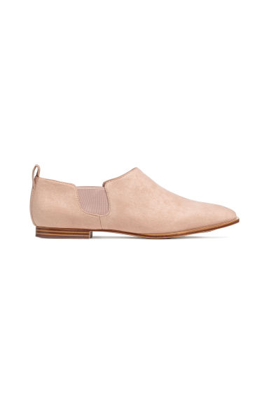 Flat shoes - Light beige/Imitation suede -  | H&M IE