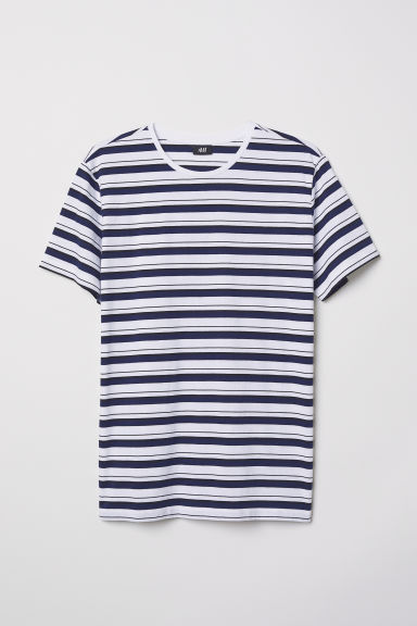 Striped T-shirt - White/Striped - Men | H&M