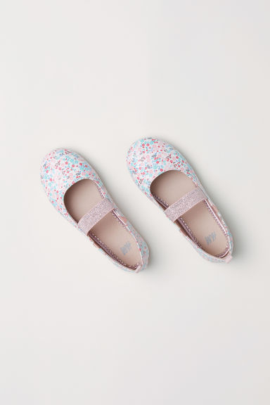 Ballet pumps - Natural white/Floral -  | H&M CN