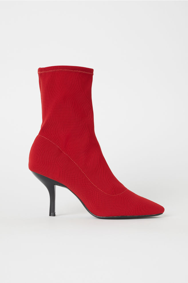 Sock-style Pumps - Red - Ladies | H&M US 1