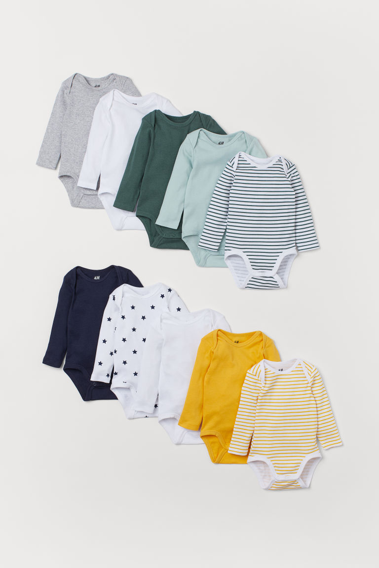 Bodies, lot de 10 - Jaune safran - ENFANT | H&M BE